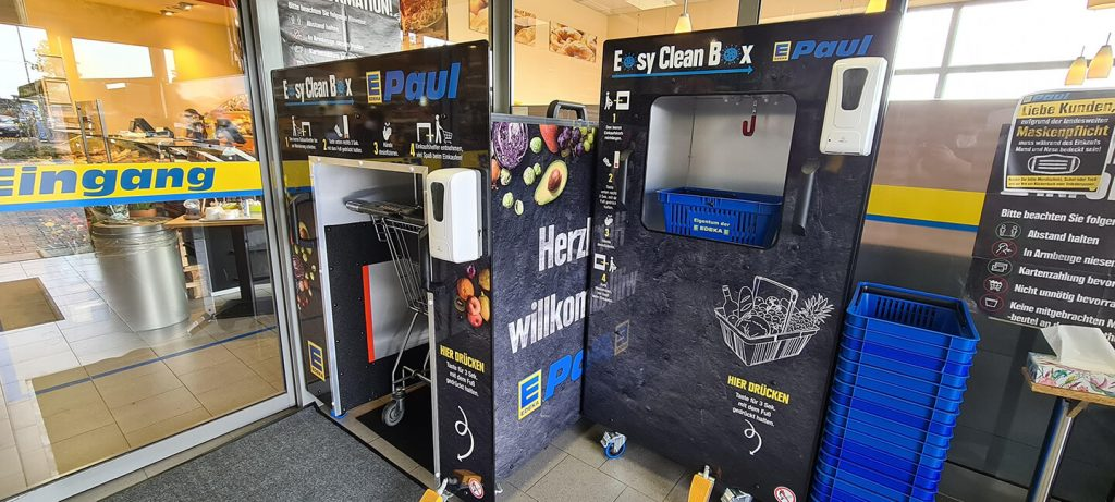 Edeka Paul Desinfektionsautomat